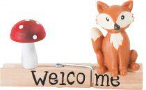 Dřevěný dekorativní kolíček - Lištička - houba