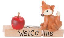 Dřevěný dekorativní kolíček - Lištička - jablko