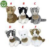 Rappa Plyšová kočka sedící 11 cm ECO-FRIENDLY šedá mourovaná C
