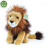 Rappa Plyšový lev sedící 25 cm ECO-FRIENDLY