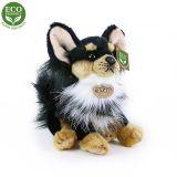 Rappa Plyšový pes čivava sedící 24 cm ECO-FRIENDLY