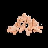 Kostky dřevěné přírodní 50ks v krabičce