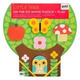 Petit Collage Robustní dřevěné puzzle Malý strom
