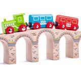 Dřevěné hračky Bigjigs Rail Dlouhý železniční most