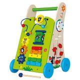 Dřevěné hračky Bino - Dřevěné chodítko Krtek