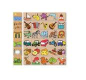 Detoa dřevěné puzzle - Co kam patří