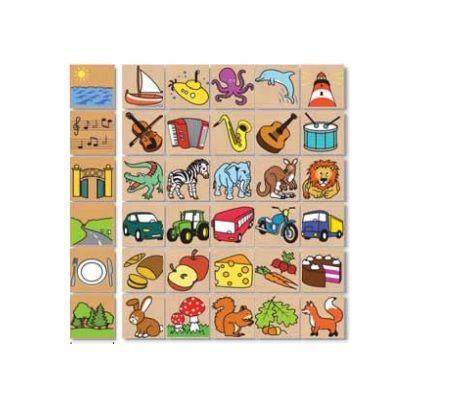 Dřevěné hračky Detoa Dřevěné puzzle Co kam patří