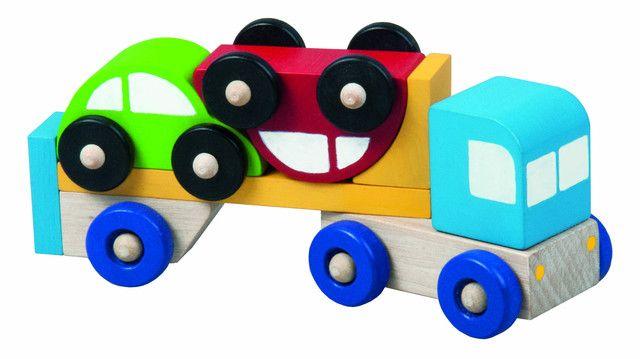 Dřevěné hračky Detoa Truck s autíčky