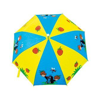 Dřevěné hračky Bino Dětský deštník Krtek