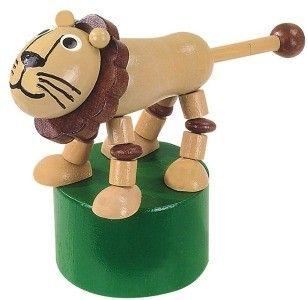 Dřevěné hračky Detoa Mačkací figurka Lev