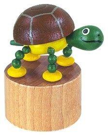 Dřevěné hračky Detoa Mačkací figurka Želvička
