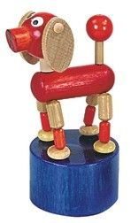 Dřevěné hračky Detoa Mačkací figurka pes