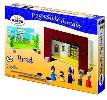 Dřevěné hračky Detoa Dětské divadlo magnetické - Hrad