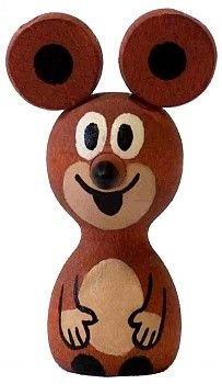Dřevěné hračky Detoa Magnet Myška