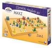 Dřevěné hračky Detoa Člověče nezlob se maxi 2 in1