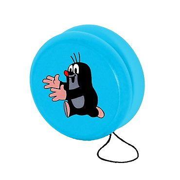 Dřevěné hračky Detoa Jojo modré s Krtkem běžícím