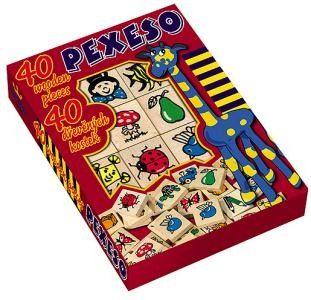 Dřevěné hračky Detoa Dřevěné pexeso 40 ks