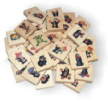 Dřevěné hračky Detoa Pexeso krtek