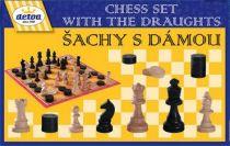 Dřevěné hračky - Dřevěné hry - Šachy s dámou