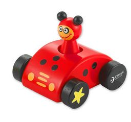 Dřevěné hračky Classic world Dřevěné pískající auto s beruškou