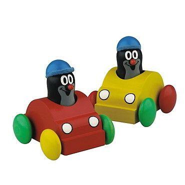 Dřevěné hračky Detoa Autíčko s pískajícím krtkem