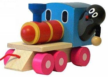 Dřevěné hračky Detoa Krtek a mašinka