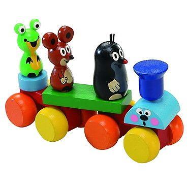 Dřevěné hračky Detoa Vláček Krteček