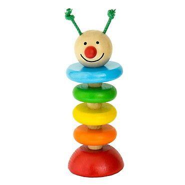 Dřevěné hračky Detoa Housenka na gumě