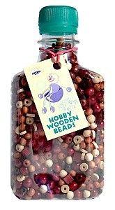 Dřevěné hračky Detoa Dřevěné perle hnědopřírodní 1000 ks