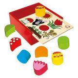 Dřevěné hračky - Krabička s tvary - Krtek