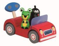 Dřevěné hračky - Krtek na výletě - červené auto