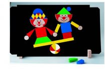 Dřevěné hračky Detoa Magnetické puzzle Klauni