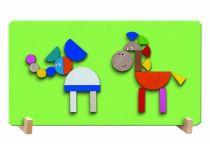 Dřevěné hračky Detoa Magnetické puzzle ZOO
