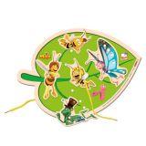 Dřevěné hračky-motorické hry- Šití list - Včelka Mája
