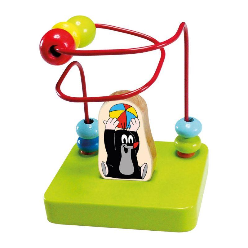 Dřevěné hračky Bino Motorický labyrint Krtek