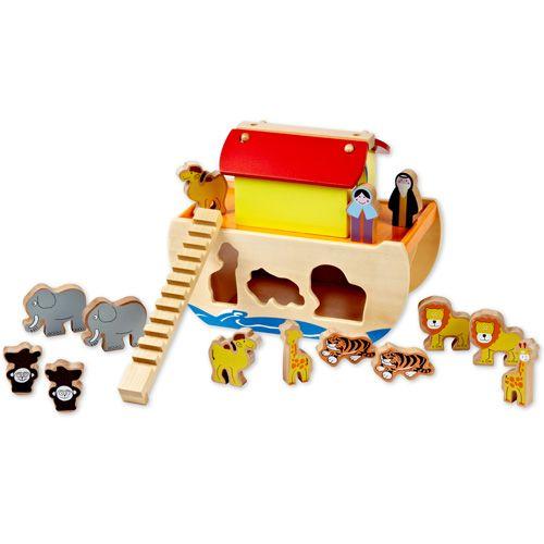 Dřevěné hračky Classic world Noemova archa se zvířátky
