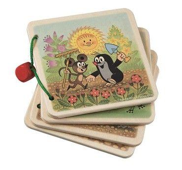 Dřevěné hračky Detoa Obrázkové album Krtek na zahradě
