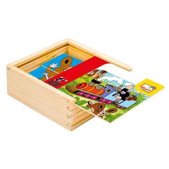 Dřevěné hračky Bino První skládanka Krtek