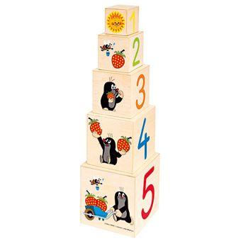 Dřevěné hračky Bino Pyramida Krtek
