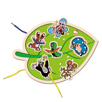 Dřevěné hračky Dřevěné hračky - Šití list - Krtek Bino