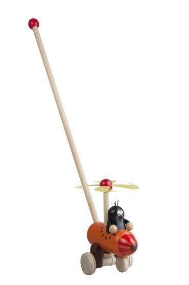 Dřevěné hračky Detoa Strkadlo Krtek