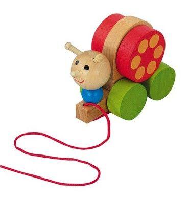 Dřevěné hračky Detoa Tahací šnek