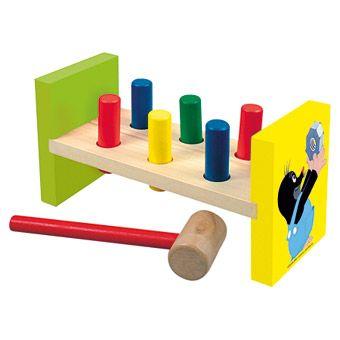 Dřevěné hračky Bino Zatloukačka Krtek