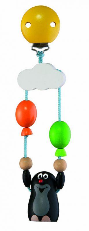 Dřevěné hračky Detoa Závěs na kočárek Krtek s balónky