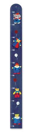 Dřevěné hračky Dřevěné hračky - Závěsný metr - 5 přátel - modrý Mertens