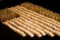 Dřevěné hry - Dřevěné domino v tubě - 830 ks natural
