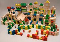 Dřevěné kostky v tubě - Dřevěné kostky 500