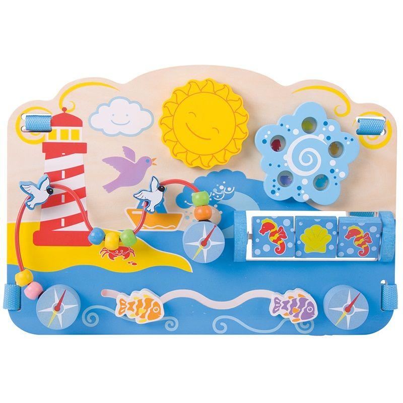 Dřevěné hračky Bigjigs Baby Dřevěná motorická deska moře Bigjigs Toys