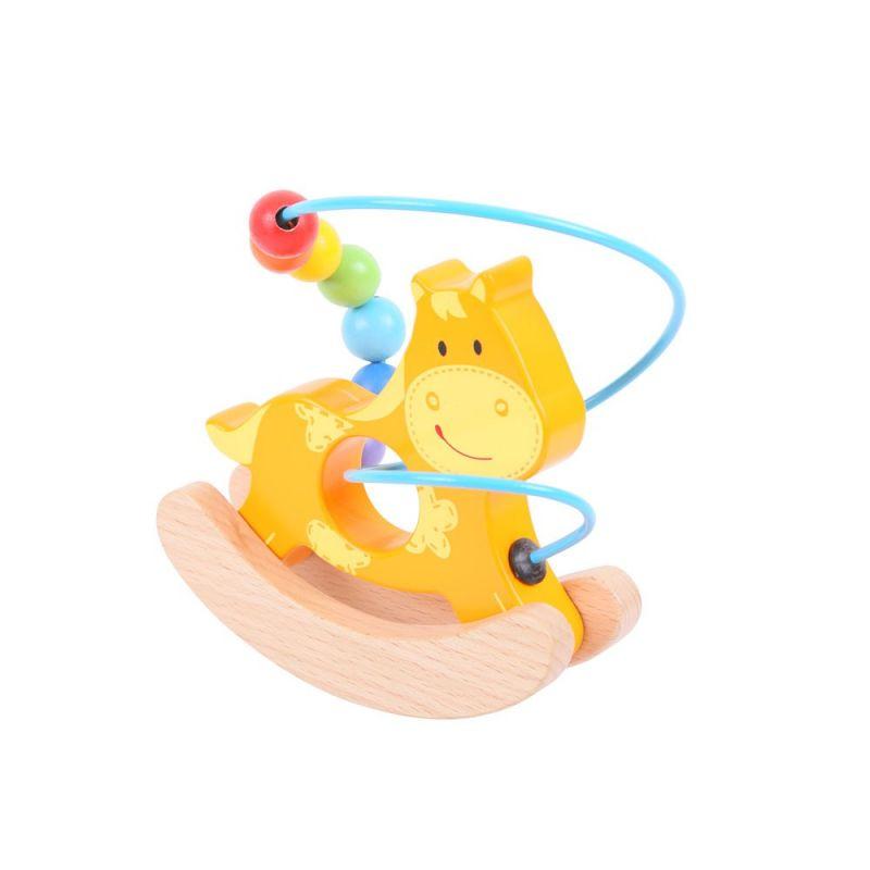 Dřevěné hračky Bigjigs Baby Motorický labyrint houpačka koník Bigjigs Toys