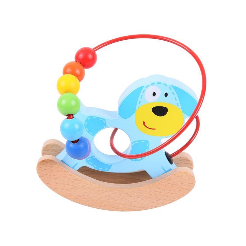 Dřevěné hračky Bigjigs Baby Motorický labyrint houpačka pejsek Bigjigs Toys